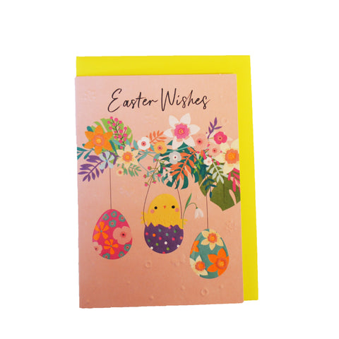 Chick & Eggs Easter Card