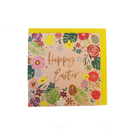 Floral Border Easter Card