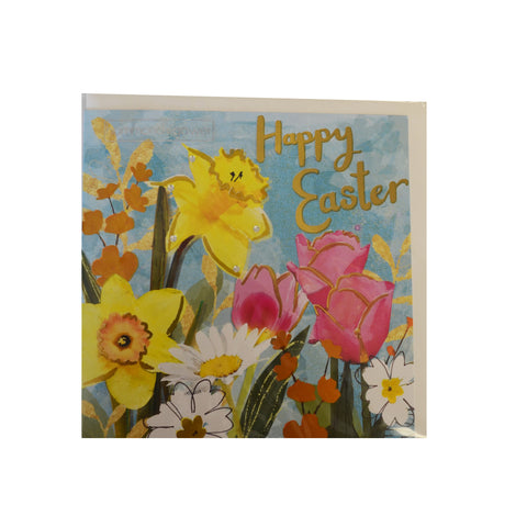 Daffodils Happy Easter Card