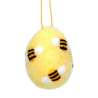 Egg With Bees Wool Decoration
