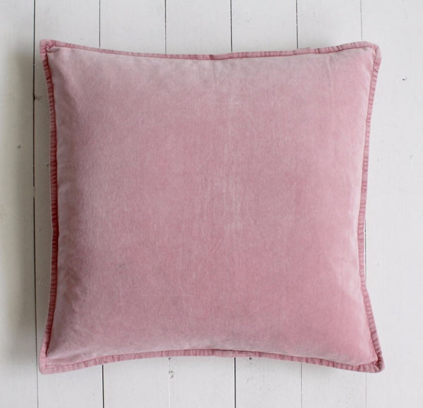 Flamingo Pink Velvet Cushion