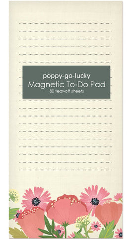 Magnetic Notepad - Poppy Go Lucky