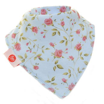 Vintage Blue Rose Zippy Baby Bib