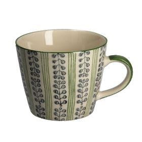 Stripes & Berries Mug - Green