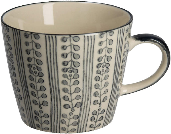 Stripes & Berries Mug - Grey