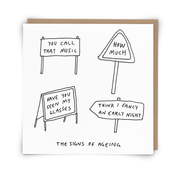 'Signs of Ageing' Card