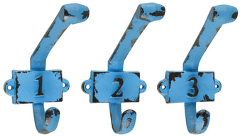 Set of Hooks with Numbers