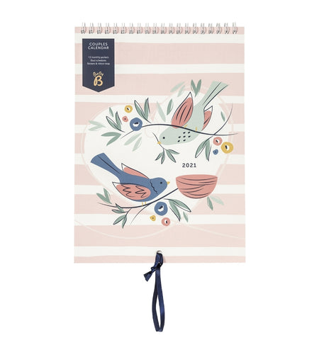 Busy B Couples 2021 Calendar - Birds