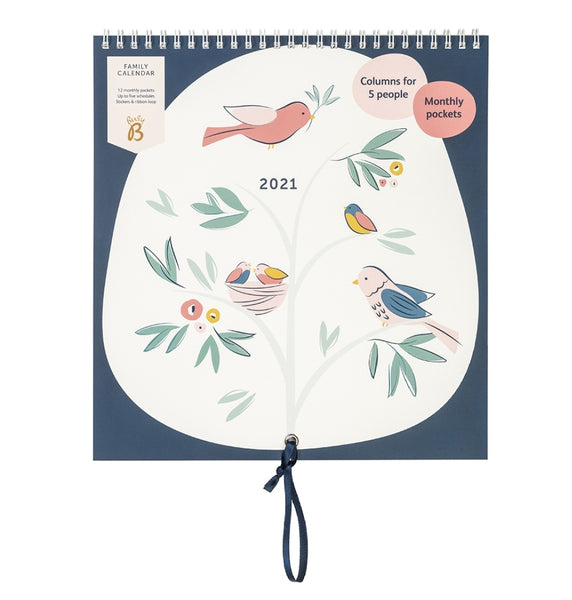 Busy B Family 2021 Calendar - Birds
