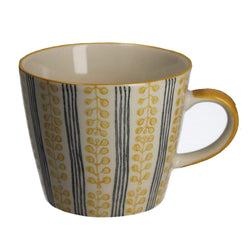 Stripes & Berries Mug - Yellow
