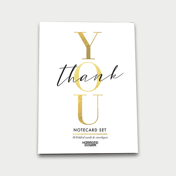 'Thank You' - Pack of 10 Cards