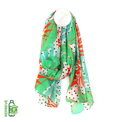 Recycled Scarf - Bright Tropical Print