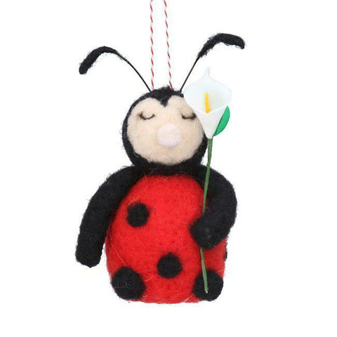 Ladybird Wool Decoration