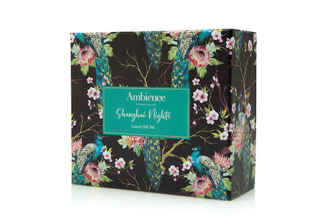 Gift Box Shanghai Nights  (Votive Candle & 300g Soak)