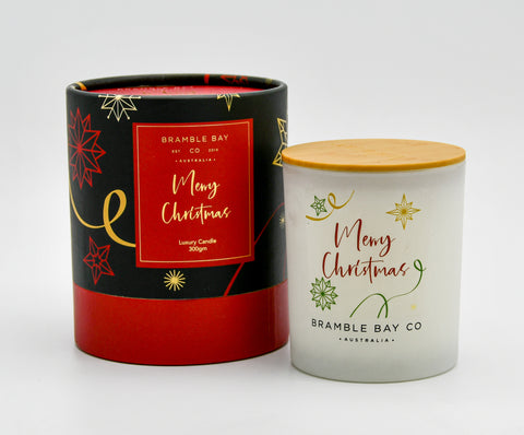 Merry Christmas Candle 300g Frankincense