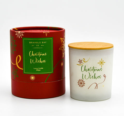 Candle Christmas Wishes 300gm Red-Sugar Plum
