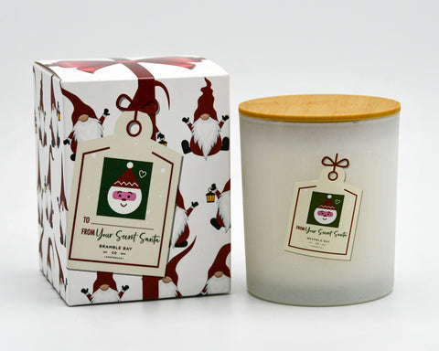 Secret Santa Candle 300gm Santa Gnome