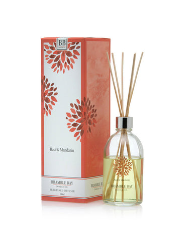 A beautiful reed diffuser featuring Basil and Mandarin fragrance.