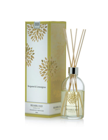 A beautiful reed diffuser featuring Bergamot and Lemongrass fragrance.