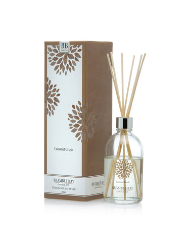 A beautiful reed diffuser featuring a tropical coconut fragrance.