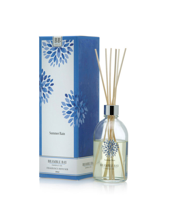 A luxury reed diffuser featuring a bouquet of lily of the valley and jasmine fragrance.