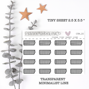 CTM.20 | Grid Washi Tiny Sheet (Transparent)