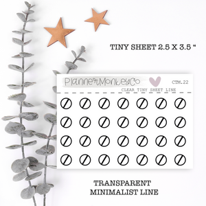 CTM.22 | Nope / Cancelled Tiny Sheet (Transparent)