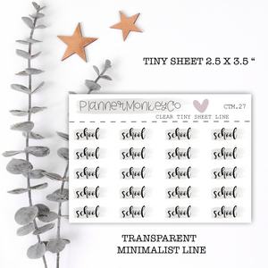 CTM.27 | School script tiny sheet (Transparent)