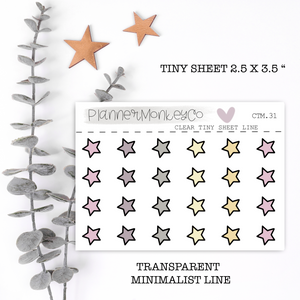 CTM.31 | New Years Stars Tiny Sheet (Transparent)