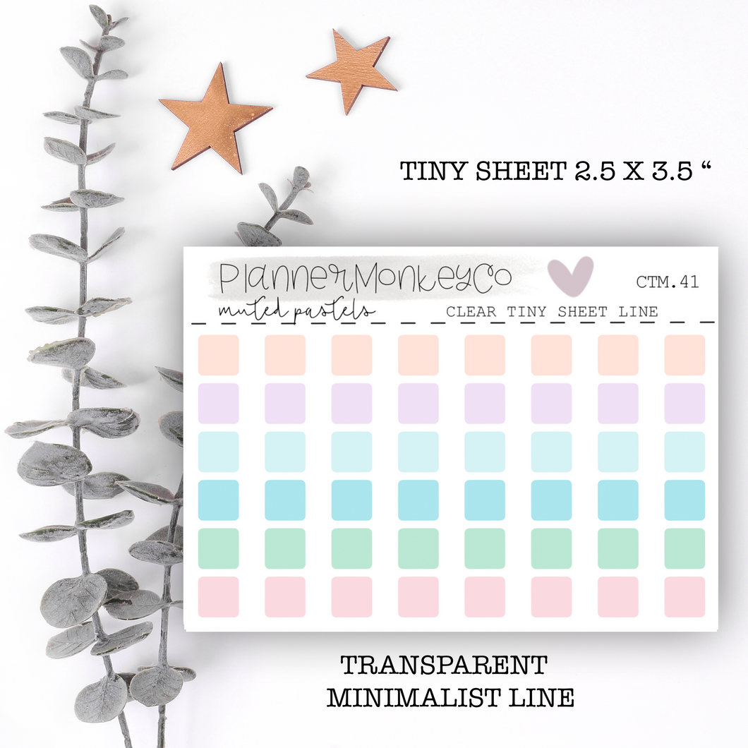 CTM.41 | Transparent Squares ' muted pastels ' Tiny Sheet (Transparent)
