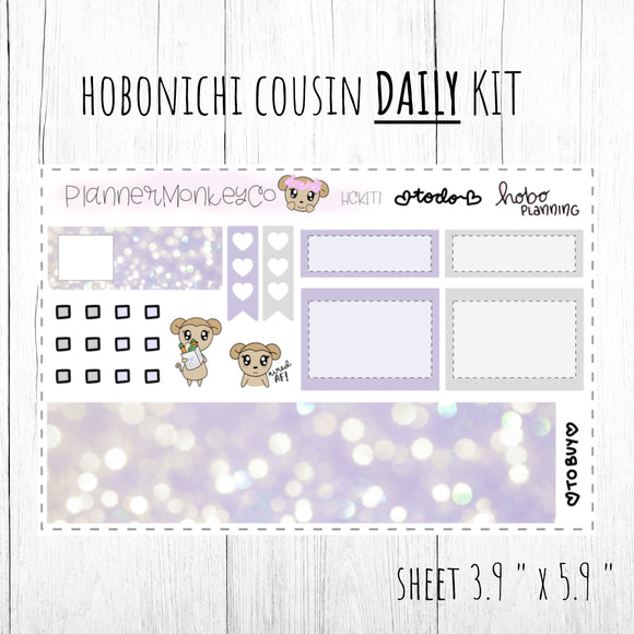 HCKIT1 | ' Purple Lights ' Hobo Cousin DAILY Kit