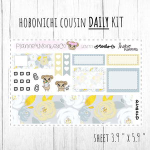 HCKIT3 | 'Summer Floral' Hobonichi Cousin DAILY Kit