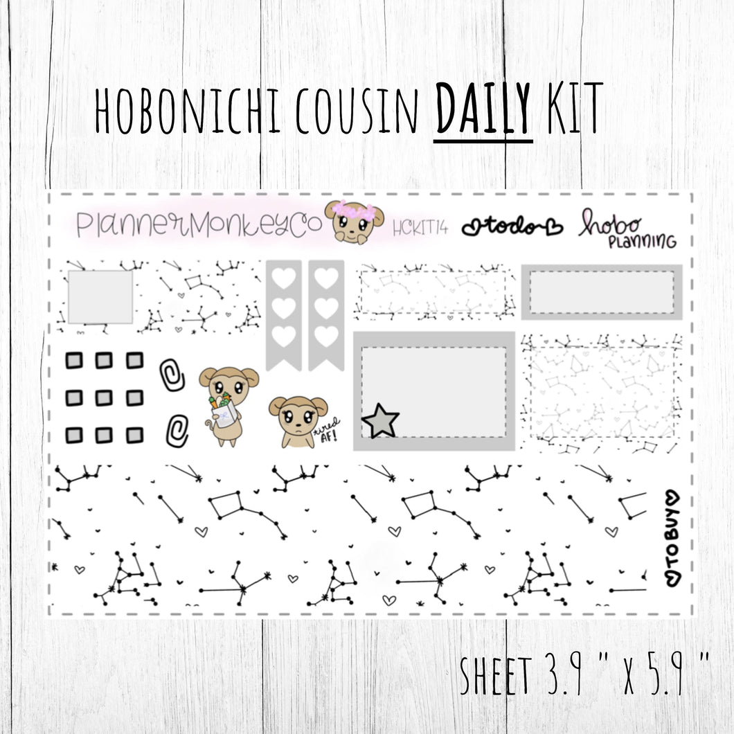 HCKIT4 | 'Black Constellation ' Hobonichi Cousin DAILY Kit