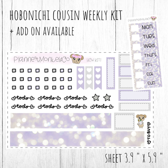 HCWKIT1 | 'Purple Lights ' Hobo Cousin WEEKLY Kit + Add on