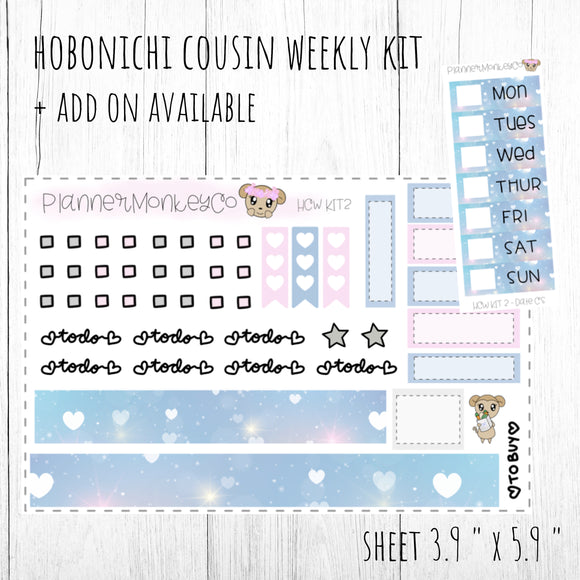 HCWKIT2 | ' Princess Love ' Hobo Cousin WEEKLY Kit + Add on