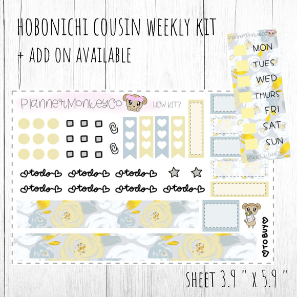 HCWKIT3 | 'Summer Floral ' Hobonichi Cousin WEEKLY Kit + ADD on