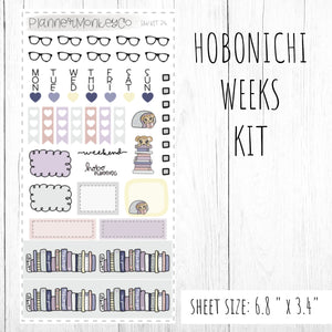 HWKIT4 | Hobonichi Weeks Kit ' Book Worm '