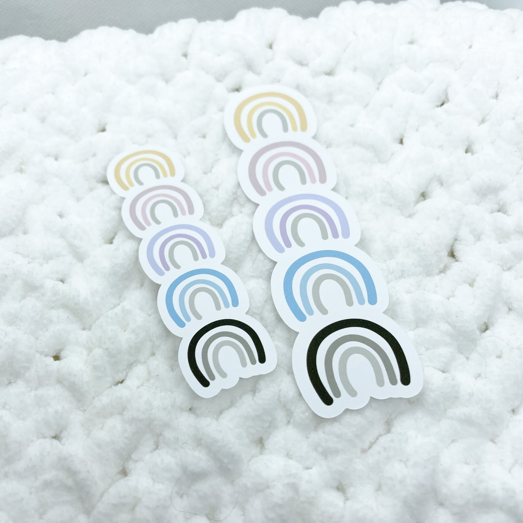 Pastel Rainbow Die Cut Large + Small | STICKER PAPER