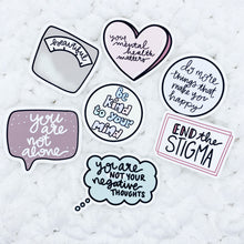 Load image into Gallery viewer, Mental Health Die Cut SET of 7 | Premium Matte Paper