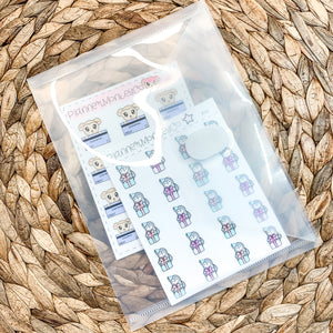 Clear Envelope Plastic Sticker Storage Pouch | Sticker Stash OR Plain