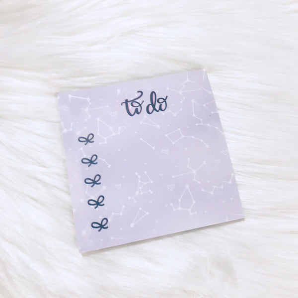 Purple Constellation To Do Sticky Notes (BIC 25pages)