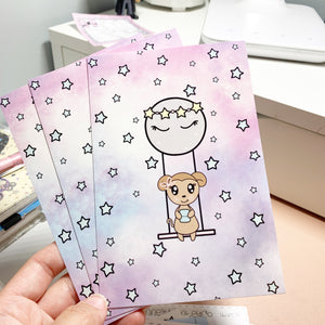 Macy Moon Swing 4x6 Journaling Card