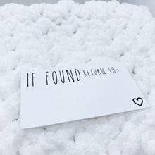 Load image into Gallery viewer, ' If found Return To ' Quote Card  Die Cut | CARDSTOCK