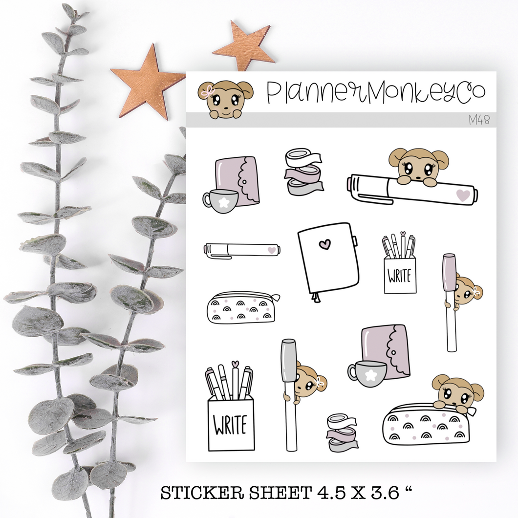 M48 | Tea Cup Macy Stickers