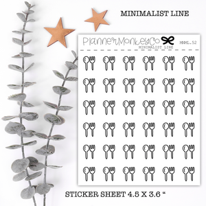 MNML52 | Fork and Spoon Stickers (Minimal Line)