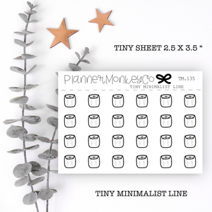TM.135 | Scale / Weight Tiny Sheet  (Minimal)