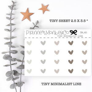 TM.40 | Taupe Heart Mix Tiny Sheet (minimal)
