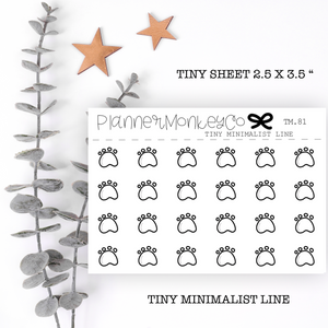TM.81 | Dog Paw Tiny Sheet (minimal)