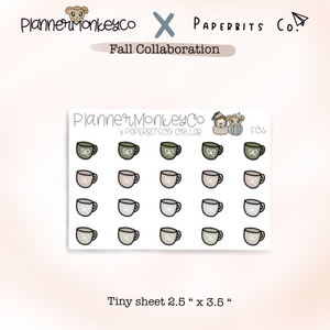 FC.6 | Cute Fall Mugs Tiny Sheet (Paperbitsco collab)