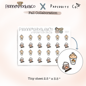 FC.7 | Pumpkin Spiced Latte Tiny Sheet (Paperbitsco collab)